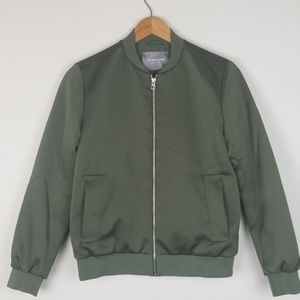 Everlane Bomber Jacket Baseball Green Men Small